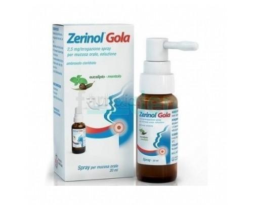 Zerinol Gola spray per mucosa orale 20 ml eucalipto - mentolo.